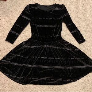Topshop Velvet Skater Dress Holiday